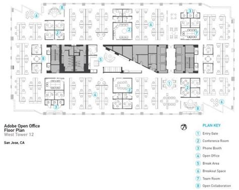 open office floor plan 40 best images about plan office layout on pinterest