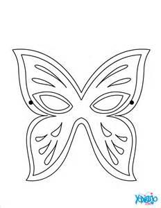 dibujos colorear antifaz mariposa es hellokids