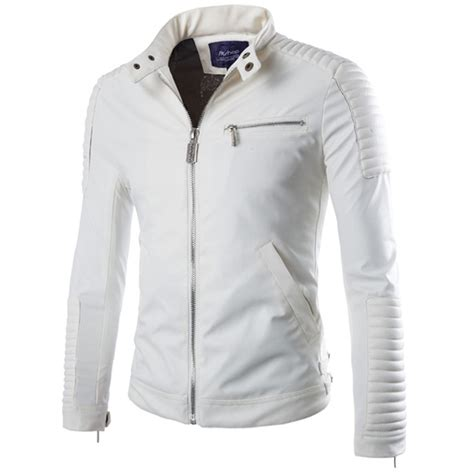 white motorbike jacket brand white pu leather jacket 2015 winter motorcycle