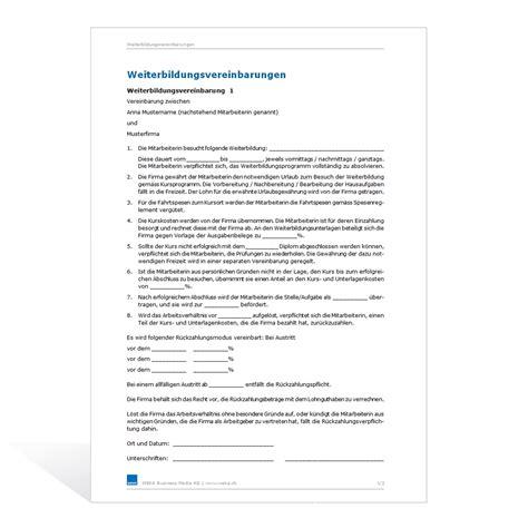 Vorlage Kündigung Arbeitsvertrag Bitte Aufhebungsvertrag Muster Weiterbildungsvereinbarung