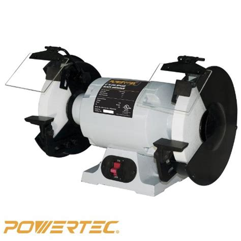 slow bench grinder powertec bgss800 slow speed bench grinder 8 inch