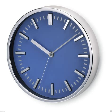 office wall clocks 9 quot wall clock large analogue modern home kitchen office blue white ebay