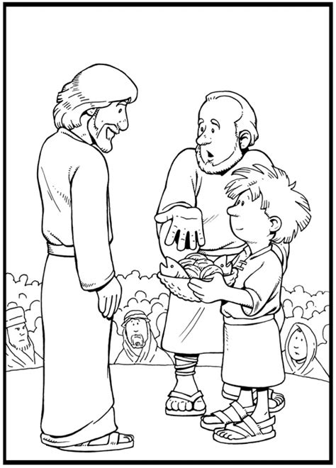 Coloring Page Feeding 5000 by Jesus Feeds The 5000 Coloring Page Catholic Coloring