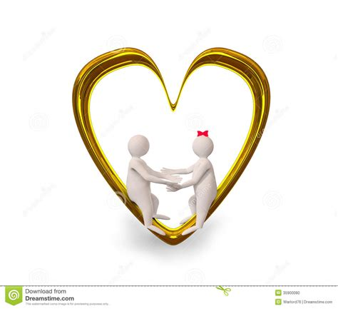 golden couple have big hearts couple in golden heart stock illustration image of symbol