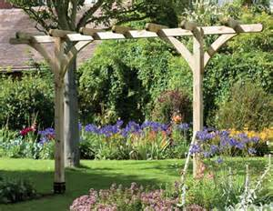 Pergola Archway by The Single Pergola Garden Arch From The Natural Gardener