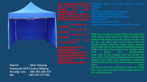 tenda cafe bekas tend cafe bekas murah tenda cafe 2x2