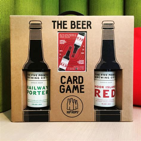 Beer Gift Card - hip hops card game and craft beer gift set five points by hip hops
