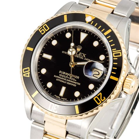 Rolex Oyster Submariner 2 rolex oyster perpetual submariner 16803 two tone