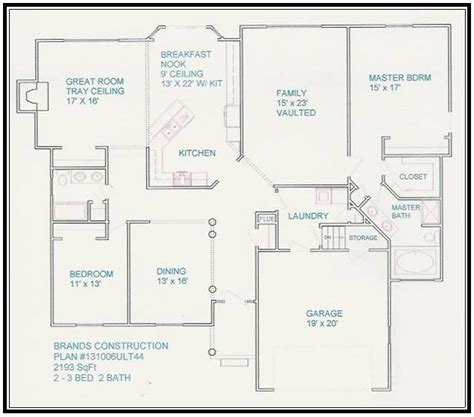 Free Floor Plans Free House Floor Plans And Designs Floor Plans For Ranch