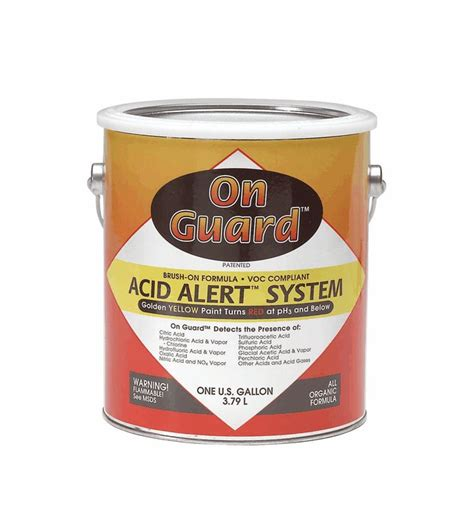on guard acid detection paint yellow 1 gallon from cole parmer