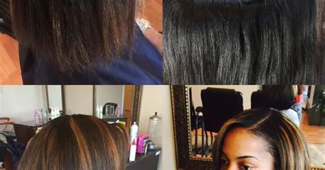 braidless sew in in little rock brittany has a full braidless sew in adding a little