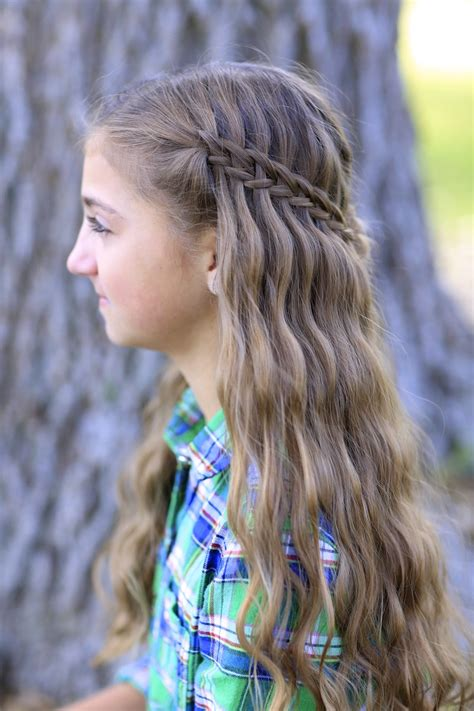 hairstyles girls com scissor waterfall braid combo