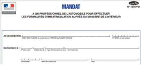 Exemple De Lettre De Procuration G N Rale mandat d un certificat d immatriculation