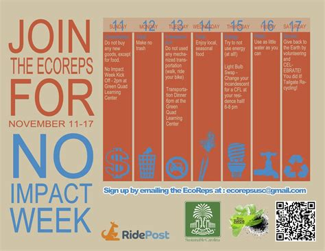usc ecoreps impact week event calendar flyer