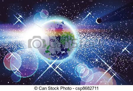 ilustraciones de vectores de sol tierra luna espacio vector clip art de planeta sol y tierra espacio