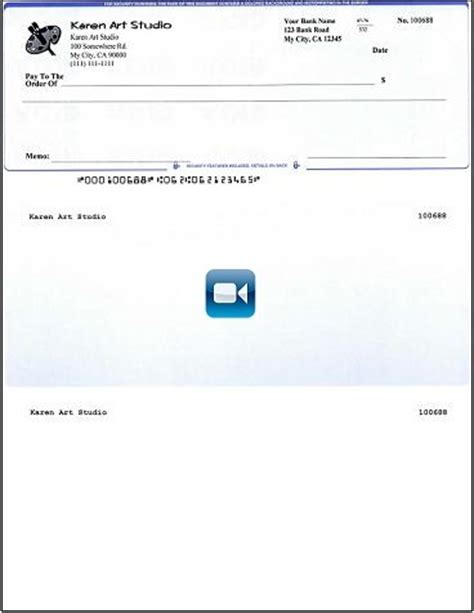 How To Print Quickbooks Compatible Micr Blank Checks Yourself Quicken Check Printing Template