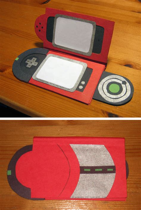 How To Make A Pokedex Out Of Paper - 3d pokedex card by inkshadow on deviantart
