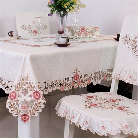 Taplak Meja Krishome Tablecloth White 90x60 fabric tablecloth whit end 5 1 2018 12 00 am
