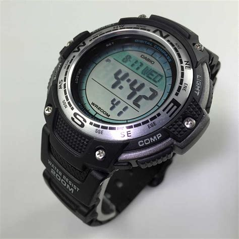 s casio digital compass sensor sport sgw100