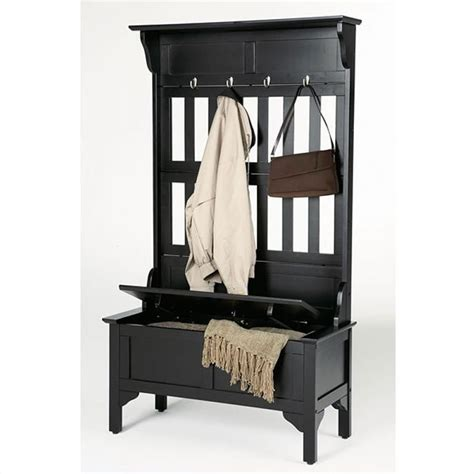 hall trees with storage bench home styles storage bench black hall tree ebay