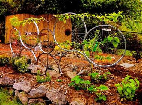 Recycling In The Garden Ideas 25 Ideas Of How To Recycle Bicycles Wisely Designrulz