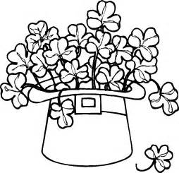 colored pages free printable shamrock coloring pages for