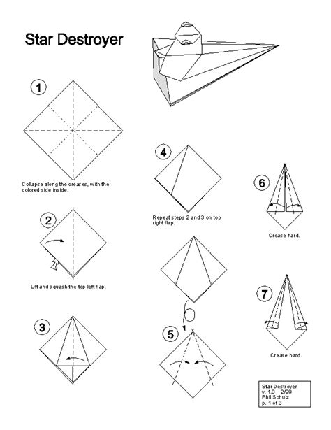 How To Make A Paper Wars Ship - wars origami