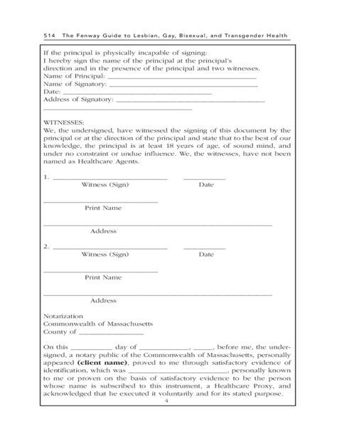 proxy form sle healthcare proxy form massachusetts free
