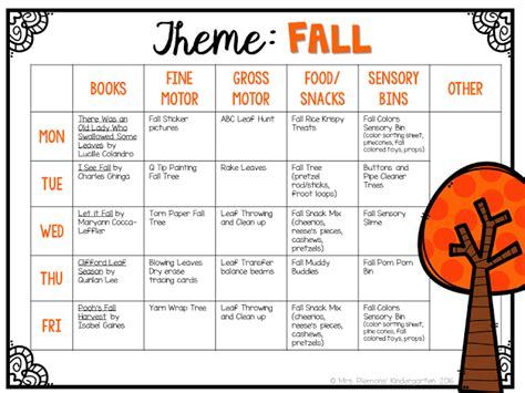 english themes for preschool tot school fall tot school activities and school