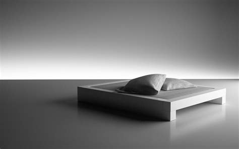 bett somnium minimalistisches design bett von rechteck