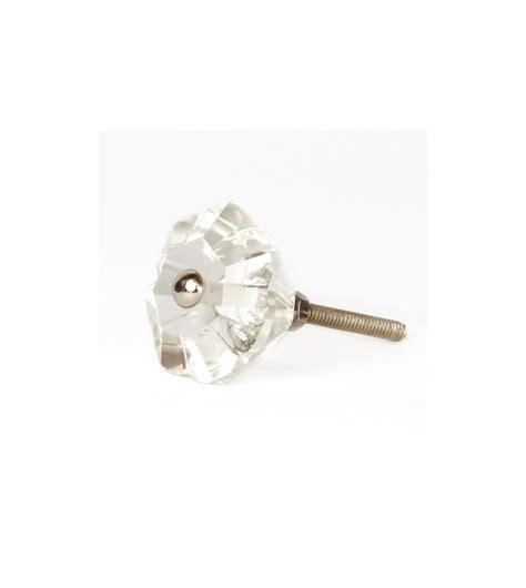 bouton pour tiroir bouton de meuble diamant fleur transparent en verre
