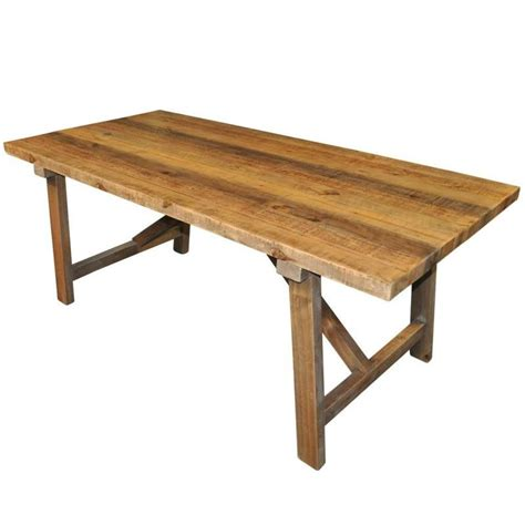 farmhouse rustic recycled timber dining table 1 83m buy