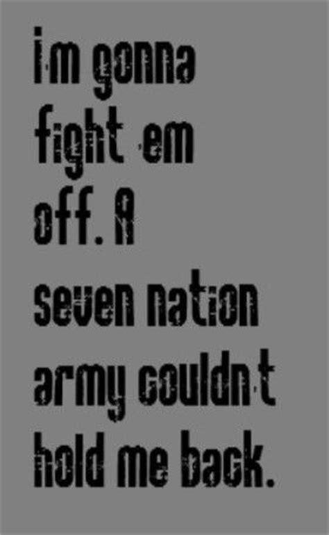 seven tattoo nation lyrics white stripes seven nation army song lyrics songs
