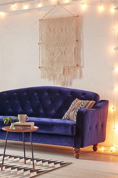 urban outfitters sleeper sofa ava velvet tufted sleeper sofa urban outfitters