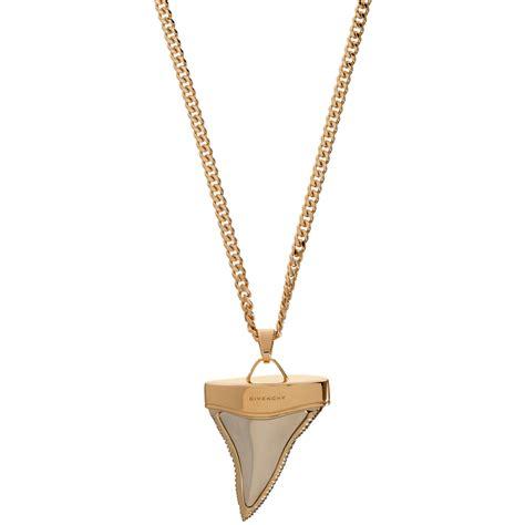 givenchy pale pink gold palladium mini shark tooth pendant