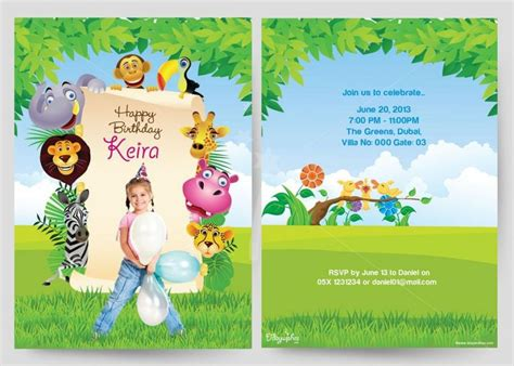 card birthday invitations for kid templated birthday birthday cards invitation card