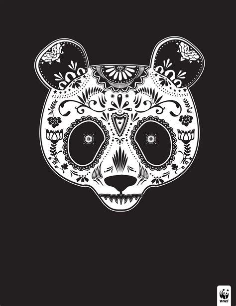 sugar skull panda wwf day of the dead gute werbung