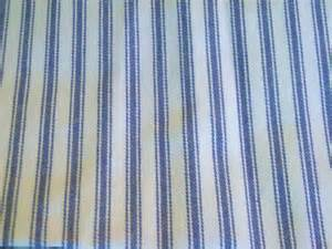 Upholstery Ticking Vintage Fabric Blue And White Stripe Ticking 1 Yards