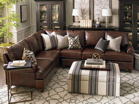Rooms To Go Dining Sets montague leather sectional living room by bassett