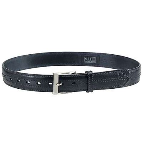 5 11 tactical leather belt 59502 019 1 5in detail stitch black