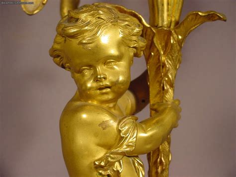 Cherub Antique by Exquisite Antique Gilt Bronze Cherub For