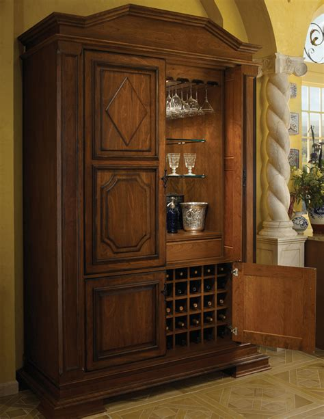 Large Bar Cabinet Bar Cabinet Wood Mode Custom Cabinetry
