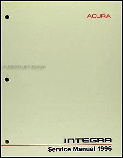 1996 acura integra repair shop manual original