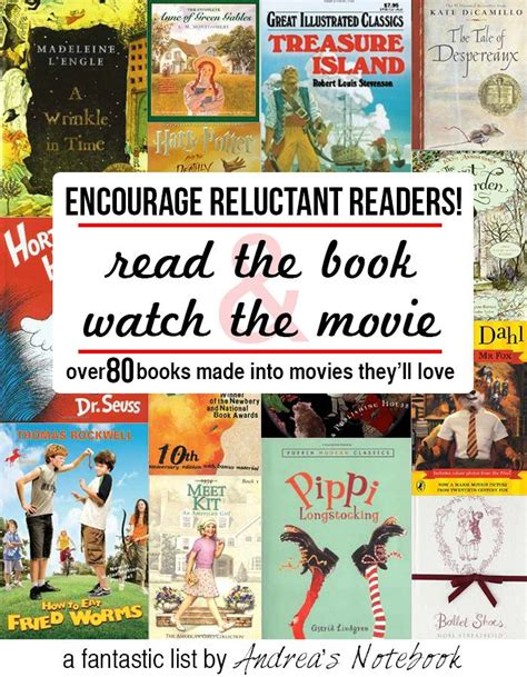 picture books made into encourage reluctant readers by the and