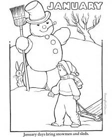 january coloring pictures new calendar template site