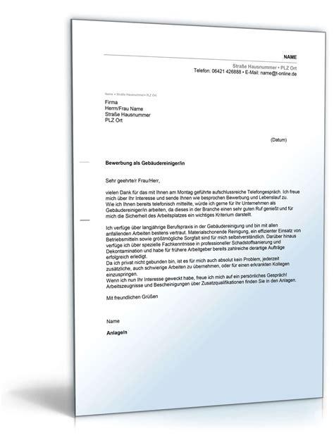 Bewerbung Vorarbeiter Beispiel Anschreiben Bewerbung Geb 228 Udereiniger Muster Zum