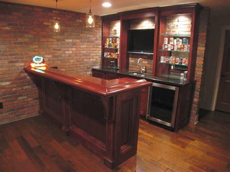 angled view small custom bar home decor custom bar house