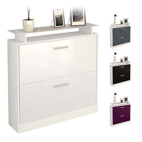 white high gloss shoe storage shoe storage rack cabinet organizer roma in white high