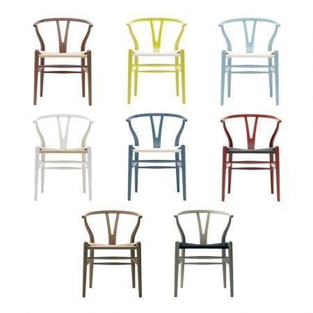 chaise wishbone ch hetre gris bleute assise corde blanche carl hansen hd chairs