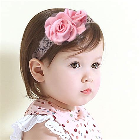 baby headbands pink satin flower headband newborn aliexpress buy pink soft satin baby headband